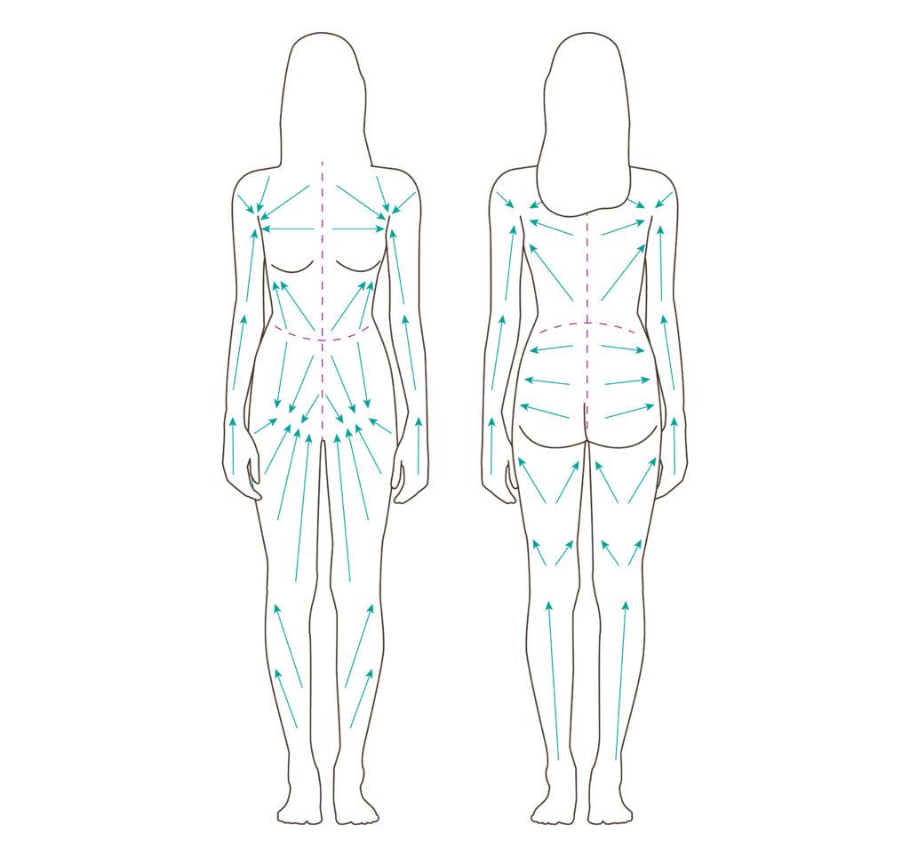 sens brossage lymphatique corps